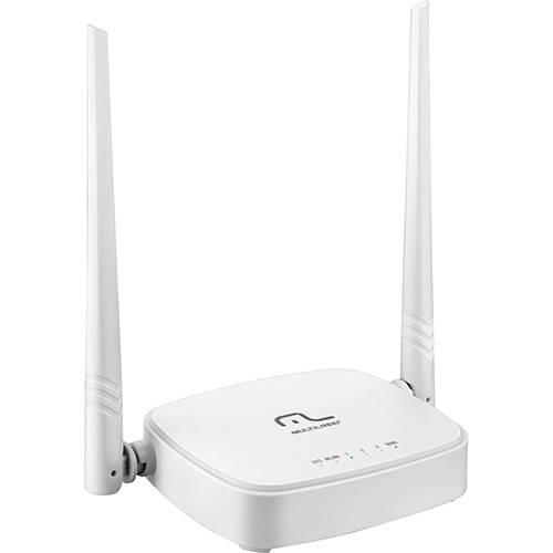 Roteador Wireless Multilaser 300Mbps com 2 Antenas Fixas 4 Portas