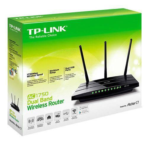 Roteador Wireless Tp-Link Archer C7, Dual Band, 3 Antenas Destacáveis, 4 Portas Lan e Protocolo IPv6