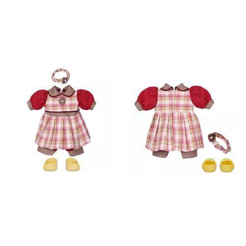 Roupa Boneca - Kit Luxo Xadrez Adora Doll - Laço de Fita