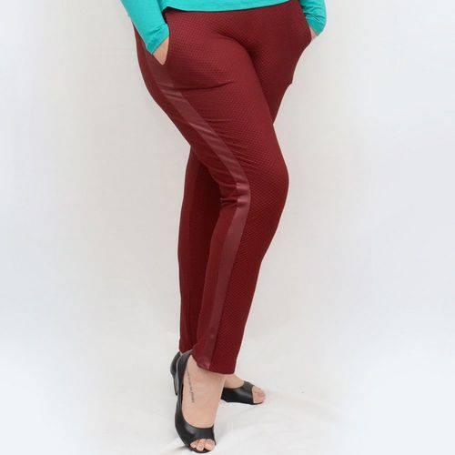 Roupa Feminina Plus Size Calça Skinny Detalhe Cirre Cós Alto
