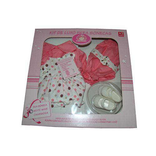 Roupa para Boneca - Kit Luxo Poá – Adora Doll – Laço de Fita