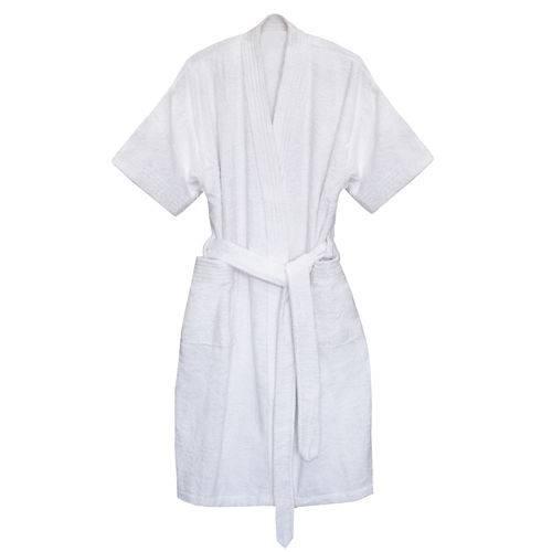 Roupão Judoca com Manga Curta Branco - M