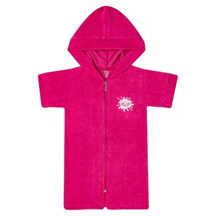 Roupão Atoalhado com Capuz Pink - Cara de Criança