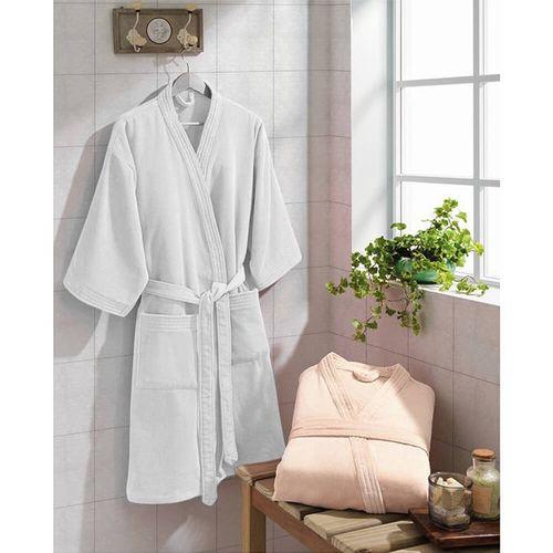 Roupão de Banho Adulto Velour Tamanho P - Dohler Branco