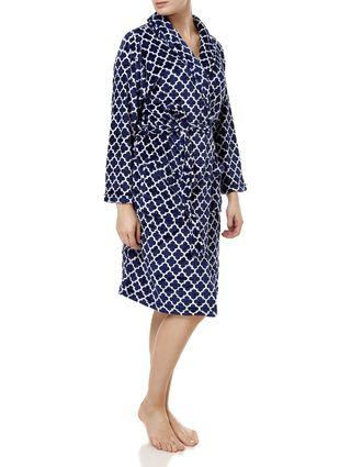 Roupão Feminino Corttex Flannel Azul Marinho