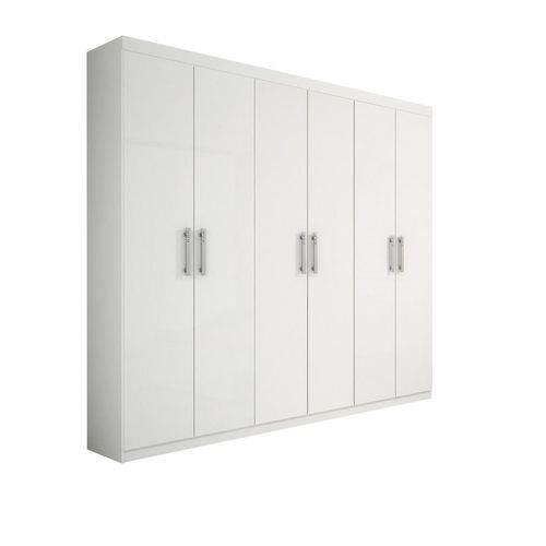 Roupeiro 6 Portas Olimpo Branco