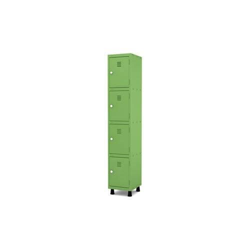 Roupeiro de Aço 1 Vão 4 Portas com Fechadura Pandin - Verde Miró