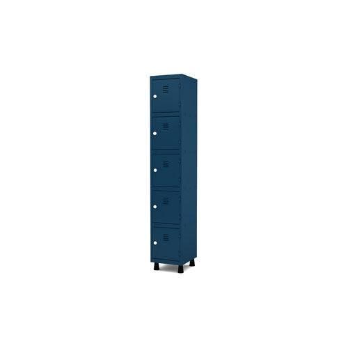 Roupeiro de Aço 1 Vão 5 Portas com Fechadura Pandin - Azul Del Rey
