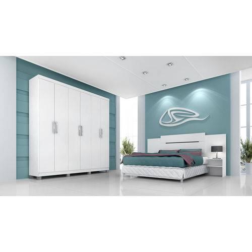 Roupeiro Uni Premium 6 Portas - Branco - Panan