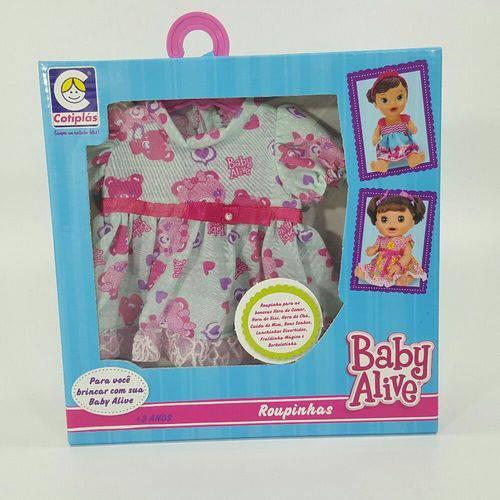 Roupinhas P/ Boneca Baby Alive Vestido de Ursinho Azul 2116