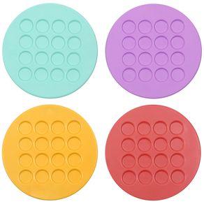 Rubber Porta-copos C/4 Cores Caleidocolor