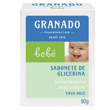 Sabonete de Glicerina Granado Infantil Bebê Erva Doce 90g