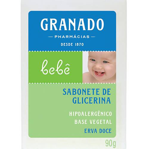 Sabonete em Barra de Glicerina Erva-Doce P/ Bebês 90g - Granado