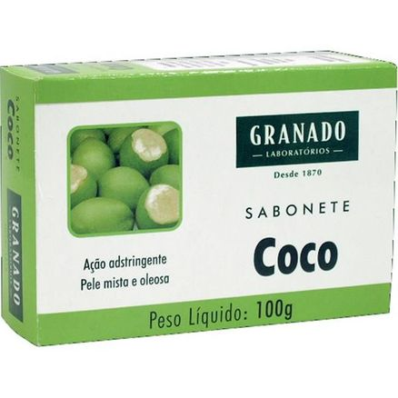 Sabonete em Barra Glicerinado Granado Coco 100g