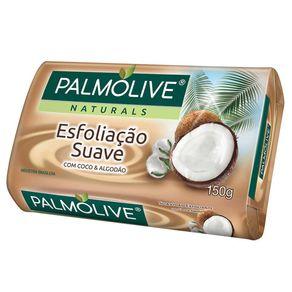Sabonete Esfoliação Suave Coco e Algodão Pamolive Naturals 150g