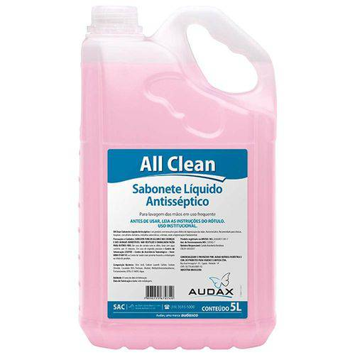 Sabonete Líquido Audax All Clean Antisséptico 5 Lt