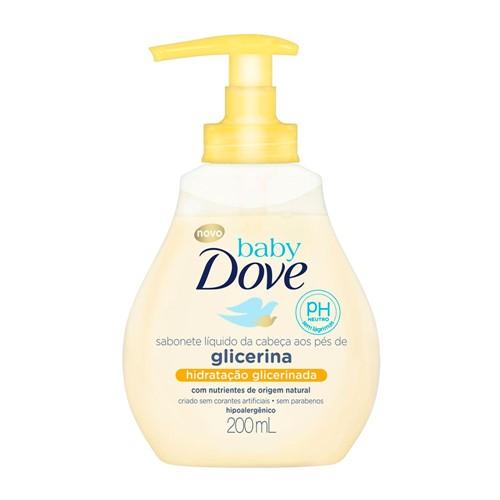 Sabonete Líquido Dove Baby Hidratação Glicerinada da Cabeça Aos Pés 200ml