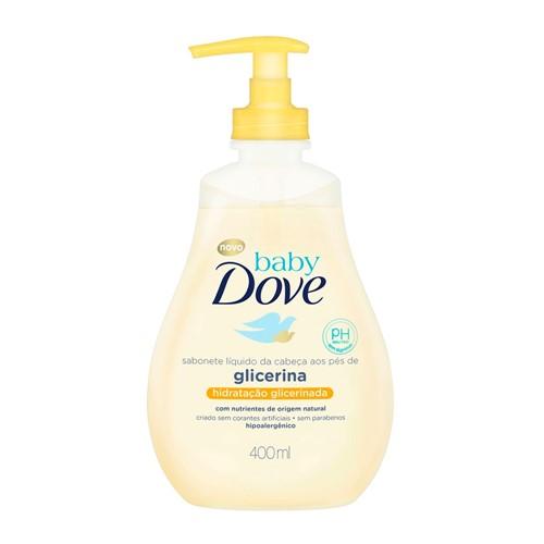 Sabonete Líquido Dove Baby Hidratação Glicerinada da Cabeça Aos Pés 400ml