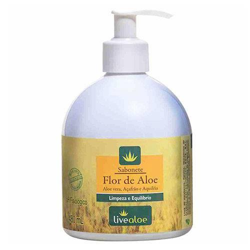 Sabonete Líquido Flor de Aloe Vera - Live Aloe 480 Ml