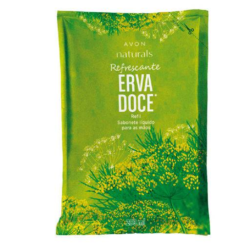 Sabonete Líquido para as Mãos Refil Naturals Erva Doce - 250 Ml