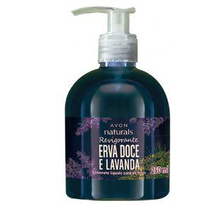 Sabonete Líquido para Mãos Naturals Erva Doce e Lavanda - 250 Ml