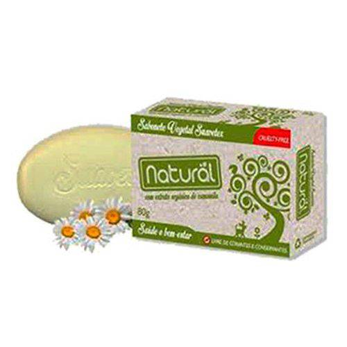 Sabonete Natural Suavetex com Extrato Orgânico de Camomila 80g