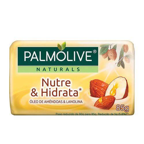 Sabonete Palmolive Nutre e Hidrata Óleo de Amêndoas e Lanolina 85g
