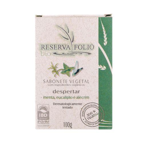 Sabonete Vegetal Orgânico Despertar Menta, Eucalipto e Alecrim 100g – Reserva Folio