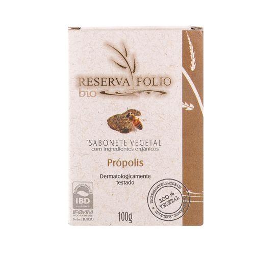 Sabonete Vegetal Orgânico Própolis 100g – Reserva Folio