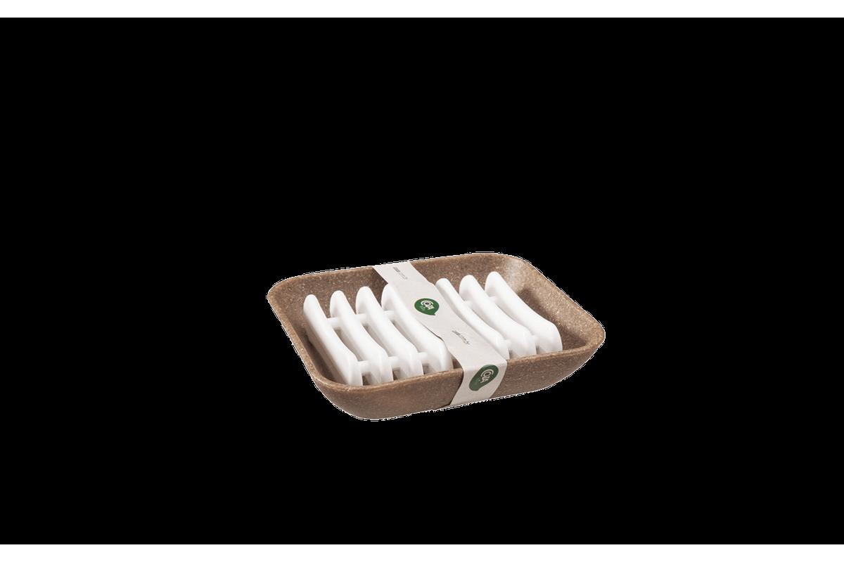 Saboneteira - Banho Square Bios 10,3 X 9,3 X 2,5 Cm Bios com Branco Coza