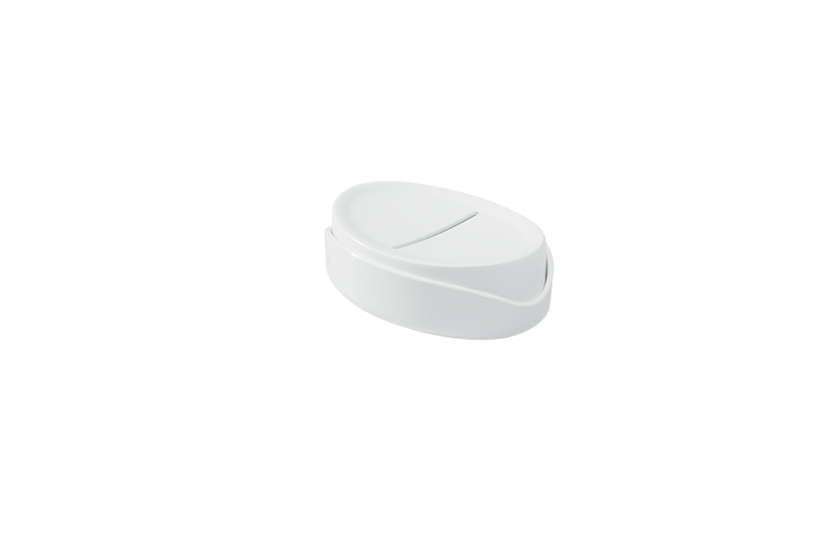 Saboneteira Full 12,1 X 8,65 X 3,7 Cm Branco Coza