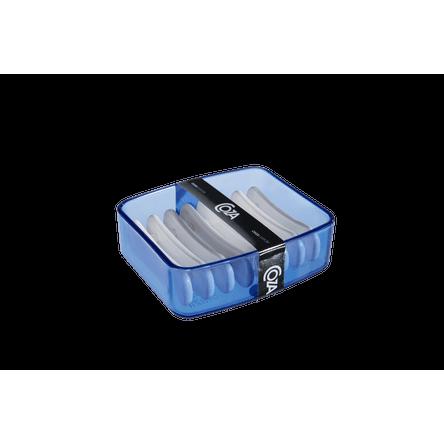 Saboneteira - Splash 9,2 X 8 X 3 Cm Azul Coza