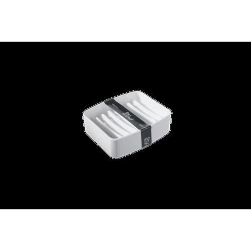 Saboneteira - Splash 9,2 X 8 X 3 Cm Branco Coza