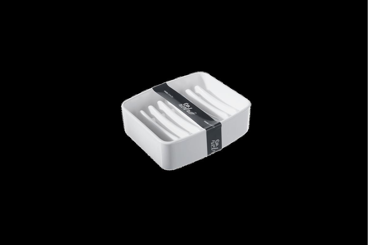 Saboneteira Splash - BC 9,2 X 8 X 3 Cm Branco Coza