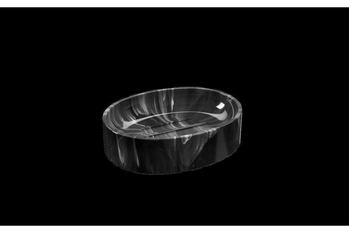 Saboneteira Spoom - MPT 11,5 X 8,9 X 3 Cm Mármore Preto Coza