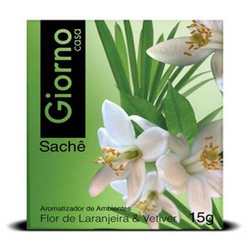 Sachê Envelope Giorno Flor de Laranjeira e Vetiver 15gr - Giorno