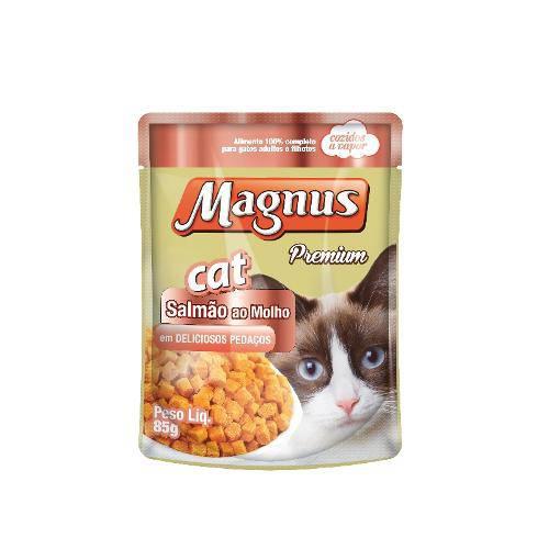 Sachê Magnus Cat Premium para Gatos Sabor Salmão ao Molho - 85g