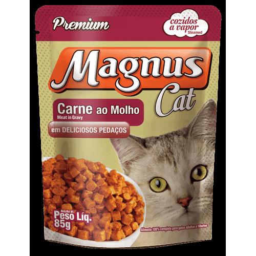 Sachê Magnus Premium Carne ao Molho para Gatos Adultos 85g