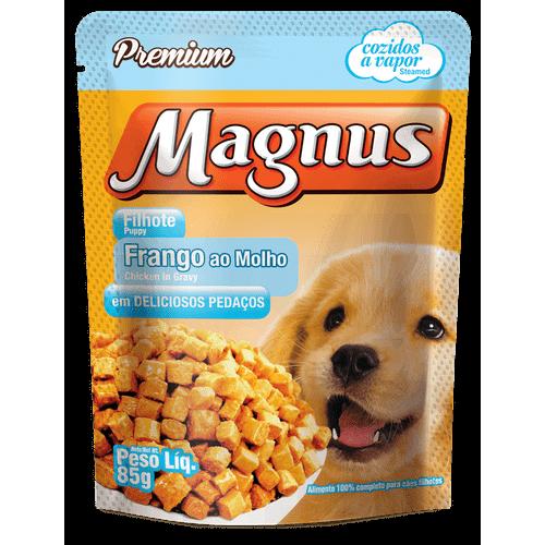 Sachê Magnus Premium Frango ao Molho para Cães Filhotes 85g