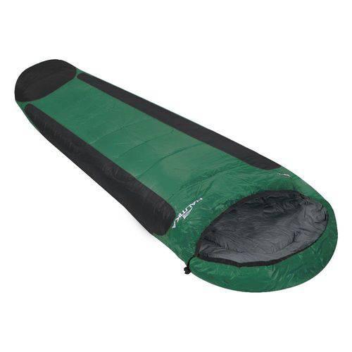 Saco de Dormir Mummy Ntk 1ºc a 8ºc Preto e Verde