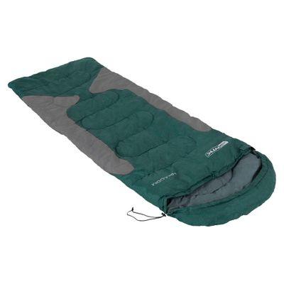 Saco de Dormir NTK do Tipo Misto de Temperaturas -1,5°C à -3,5°C com Bolsa de Transporte e Capuz Freedom Verde e Cinza
