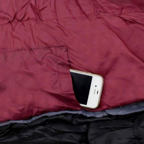 Saco de Dormir Tantry -3ºc a 3ºc Vermelho e Preto