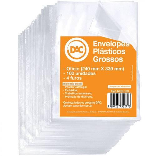 Saco Plastico Dac Grosso C/ 4 Furos Ofício 100 Plast Cristal 5076-100