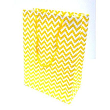 Sacola Cartonada 21,5x15x8cm Amarela Sacola Cartonada 21,5x15x8cm Zig Zag Amarelo - 10 Unidades