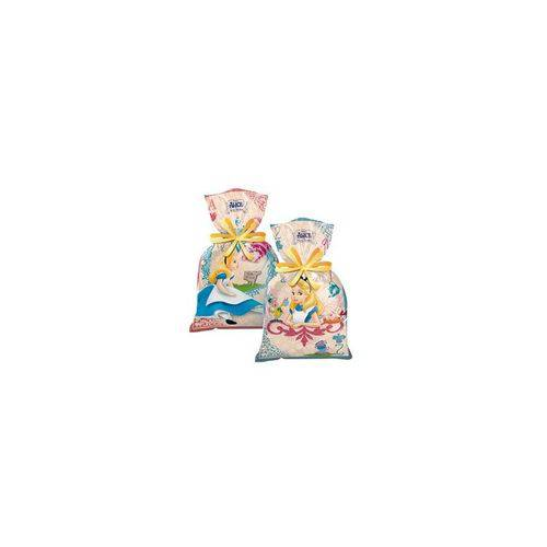 Sacola Plástica Alice Disney - 08 Unidades