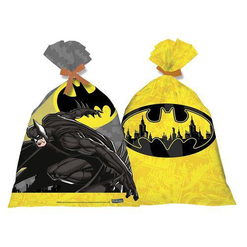 Sacola Plástica Batman Geek 08 Unidades Festcolor