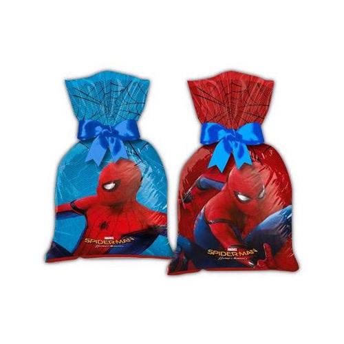 Sacola Supresa Plástica Homem Aranha C/8 - Regina