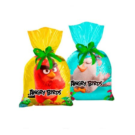 Sacola Surpresa Plástica Angry Birds - 08 Unidades