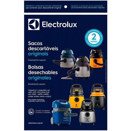 3 Sacos para Aspirador Electrolux A10, A13, Aqp, Gt20, Flex e Awd01 (produzidos a Partir de 2010) - Cse10