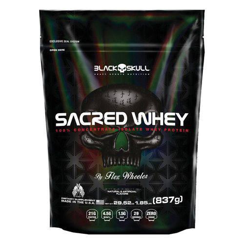 Sacred Whey Refil 837G - Black Skull - Morango